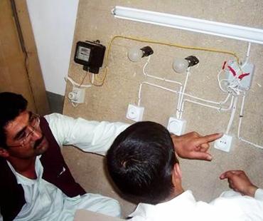 Masonry, building wiring & computer skills vocational training