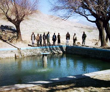 Establishment of irrigation water piped scheme